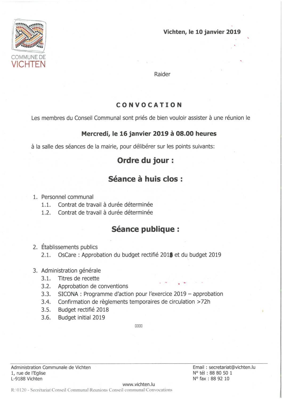 Séance CC - 2019.01.16