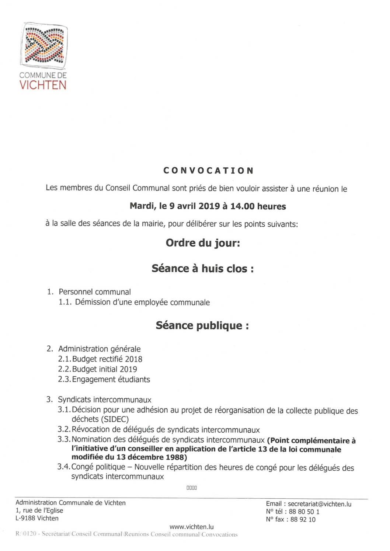 Séance CC - 2019.04.09